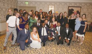 Wilberforce Academy delegates celebrating at the closing banquet