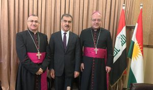 Kurdish Foreign Minister Safeen Dizayee met Pope Francis's ambassador to Iraq