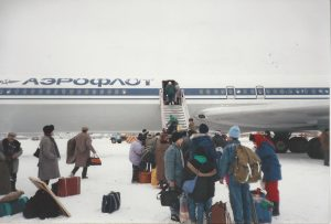 Russian Jews brave the cold to board the first flight to Israel from Siberia.