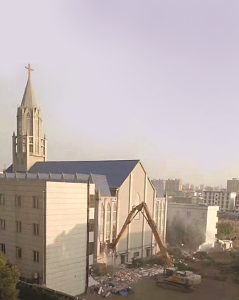 The demolition of Fuyang Christian Church