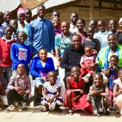 Ben and Gloria with their orphans
