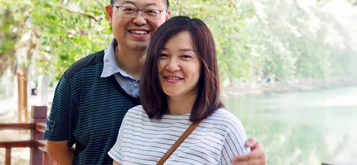 Pastor Wang Yi and wife Jiang Rong