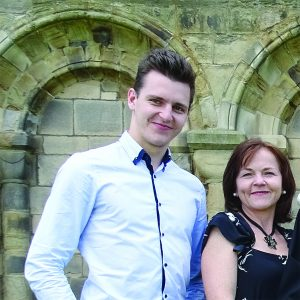 Daniel with his mother Tania