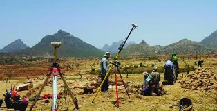 Researchers at the site of the oldest known church in Ethipopia