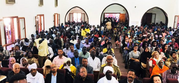 Muslim government officials attend a Christmas service at Khartoum Bahri Evangelical Church on 25 December 2019