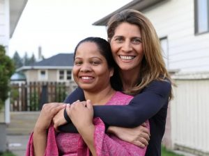 Asia Bibi with the co-author of her new book, Anne-Isabelle Tollet
