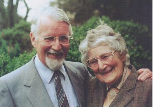 David Pawson with his wife Enid