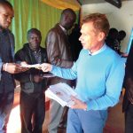 Distributing literature in Zambia