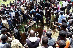 Mass burial for children at Hura village