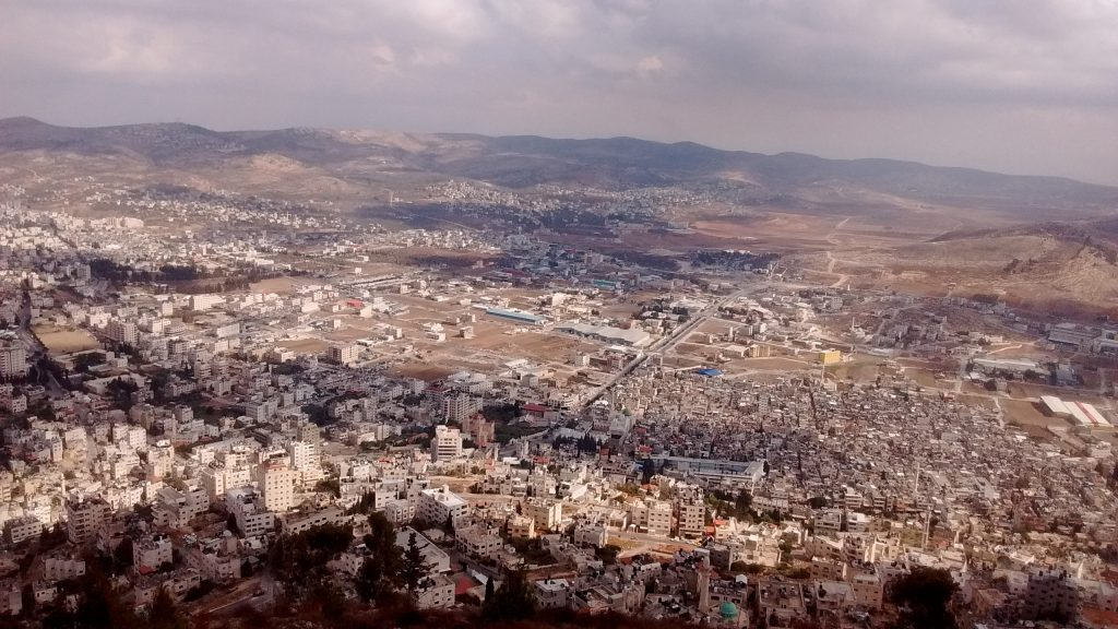 Shechem (now known as Nablus) in Samaria