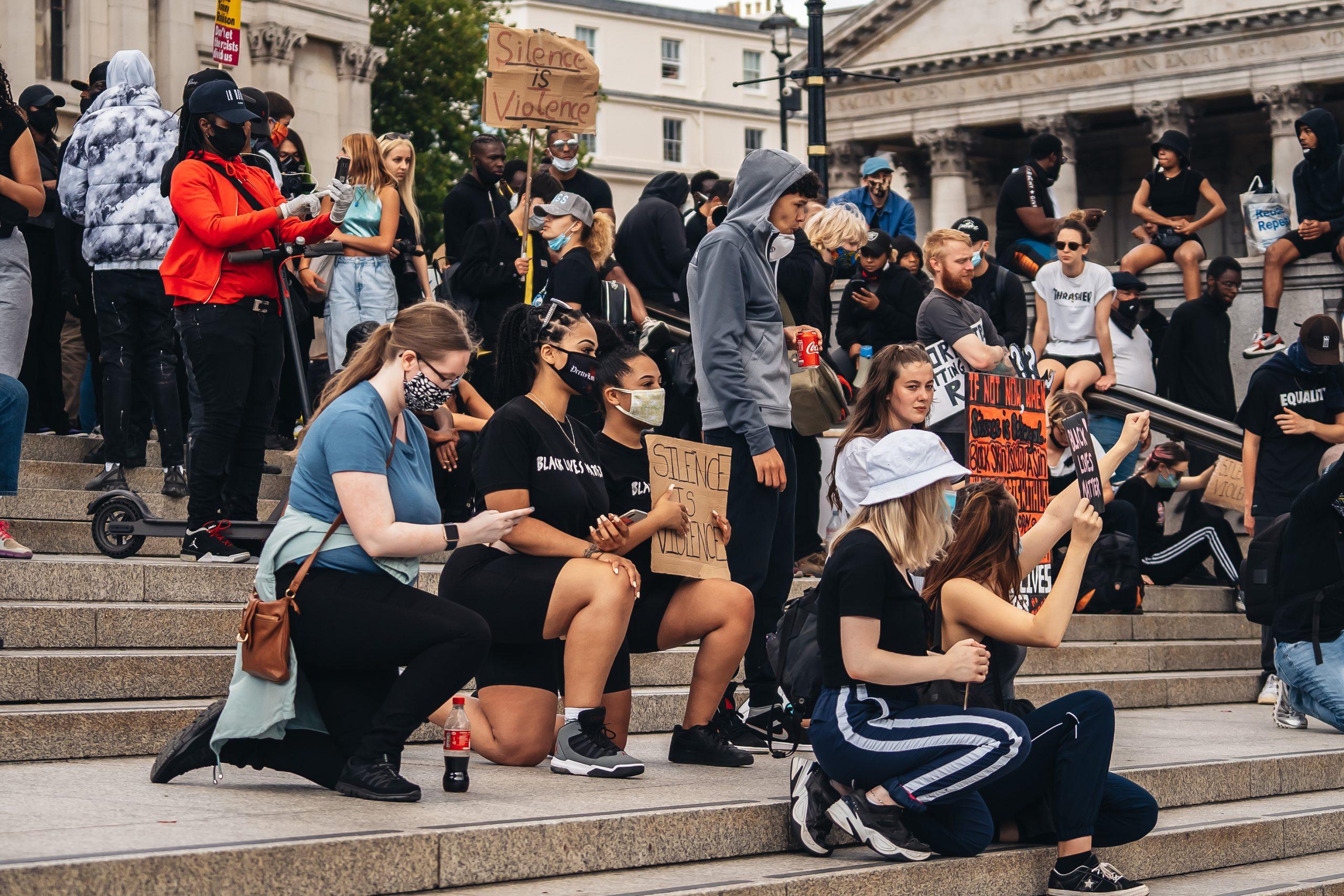 a Black Lives Matter demonstration