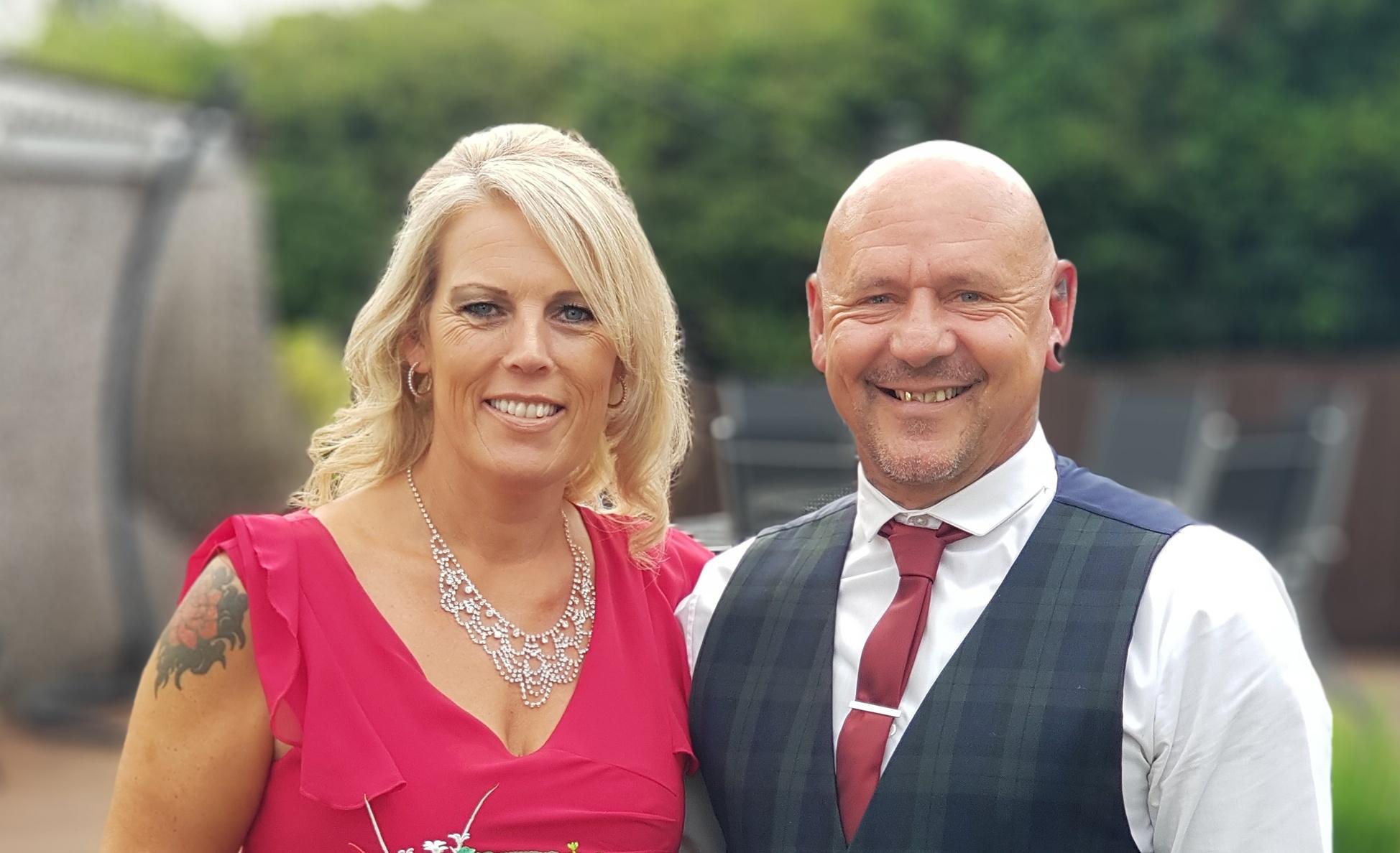 Graham as best man with wife Rachel