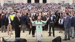 Michelle Bachmann led prayer alongside Franklin Graham