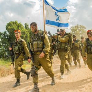 Israeli soldiers on exercise