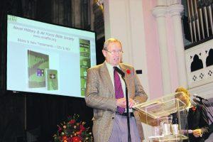 Richard Prendergast speaking at a church