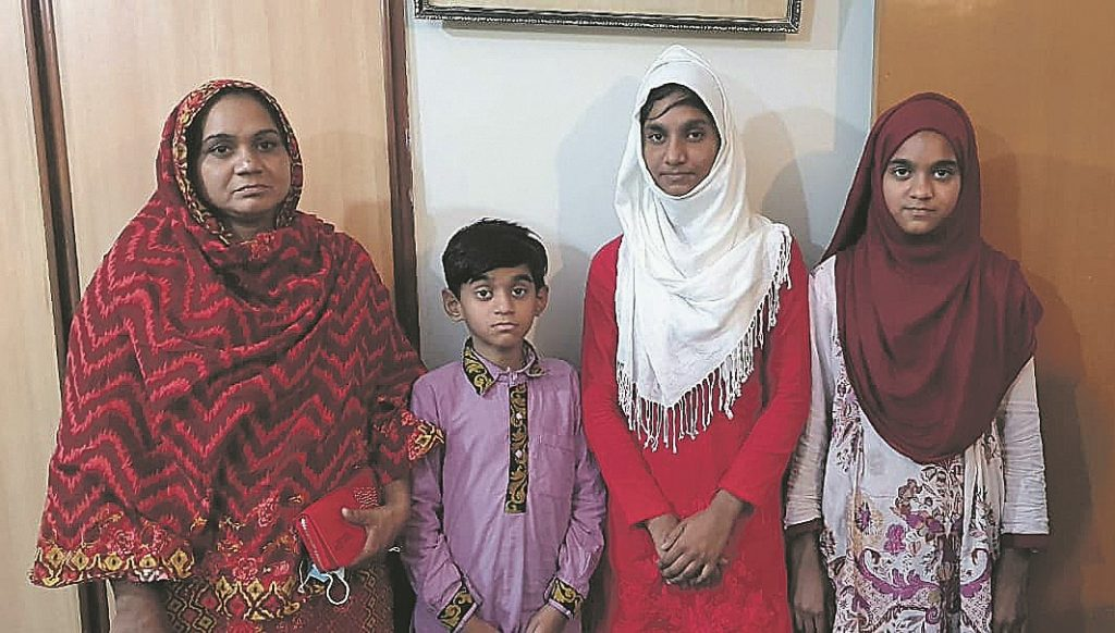 Komal with her family