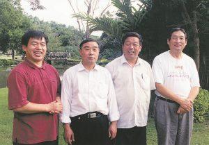 Brother Yun, Enoch Wang, Zhang Ronliang and Peter Zu
