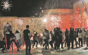 Rioting at the Al Aqsa mosque