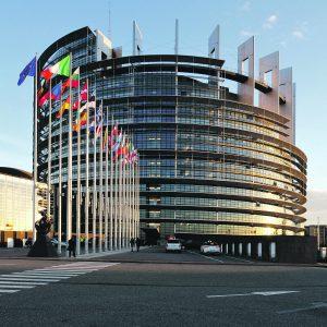 The EU Parliament building in Strasbourg