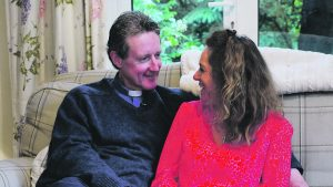 The Poole vicar, Charlie Boyle, with wife Sarah