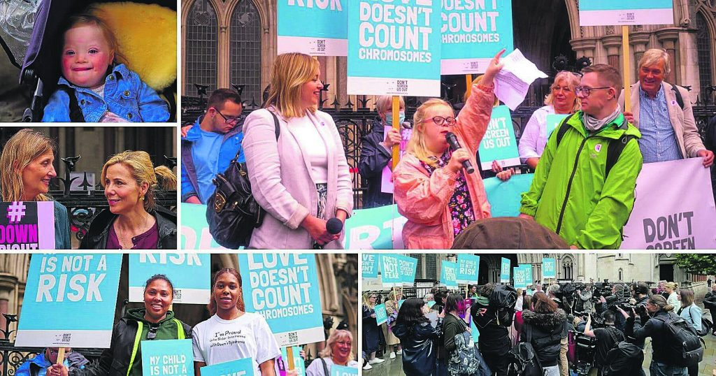 Heidi Carter leads a rally against the Abortion Act outside the High Court
