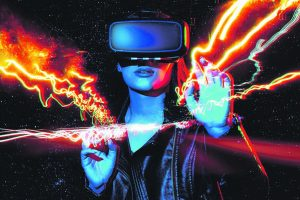 Virtual Reality shuts out the real physical world