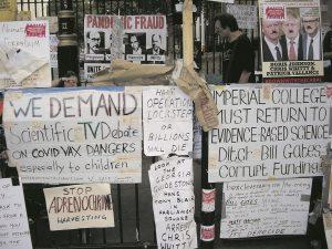 Medical freedom demonstrators in London