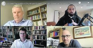 Four of the clergy behind the 1800-signatory letter to the Prime Minister protesting against vaccine passports